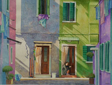 Painting: Burano Alley