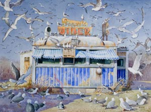 Seagull Diner, by Becky Haletky